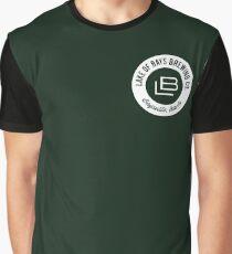 Lake of Bays Logo - White Graphic T-Shirt