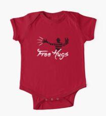 Free Hugs Freddy Short Sleeve Baby One-Piece