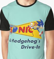 A Hedgehog's Drive-In Graphic T-Shirt