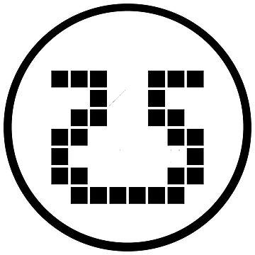 8bit inkwell Logo Black & White  by SierraRae