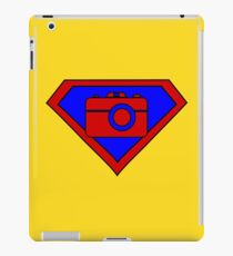 Hero, Heroine, Superhero, Super Photographer iPad Case/Skin