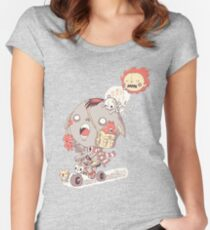 funny cartoon Women's Fitted Scoop T-Shirt
