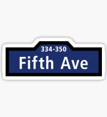 Fifth Avenue, Street Sign, New York City Sticker