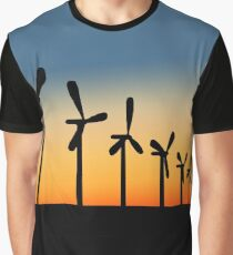 Saving the world one wind turbine at a time Graphic T-Shirt