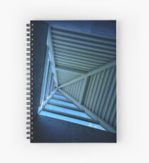 Blue Sky and Pyramid Architectural Window Spiral Notebook