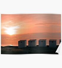 Pink Sunset over the North Sea photo Poster