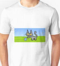 Kitten Plays OutSide Unisex T-Shirt