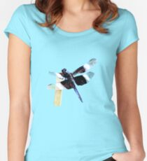 Widow Skimmer Dragonfly  Women's Fitted Scoop T-Shirt