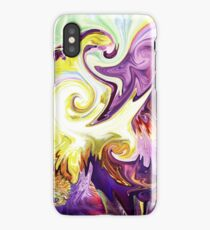 Magic Purple Flower Abstract iPhone Case/Skin