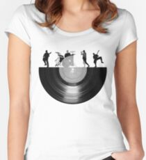 Vinyl music art Women's Fitted Scoop T-Shirt