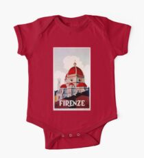 Florence Firenze 1920s Italian travel ad, duomo One Piece - Short Sleeve