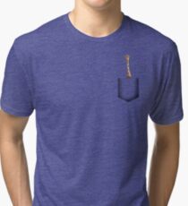 Giraffe pocket Tri-blend T-Shirt