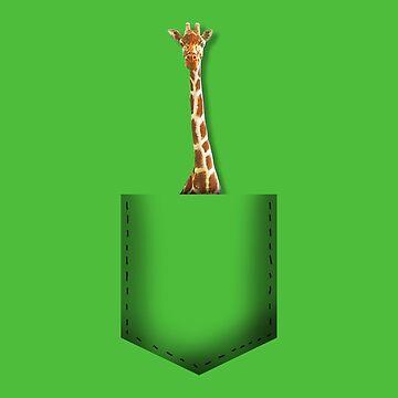 Giraffe pocket by whereismypanda