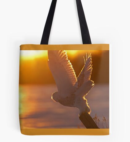 Until next time - Snowy Owl Tote Bag