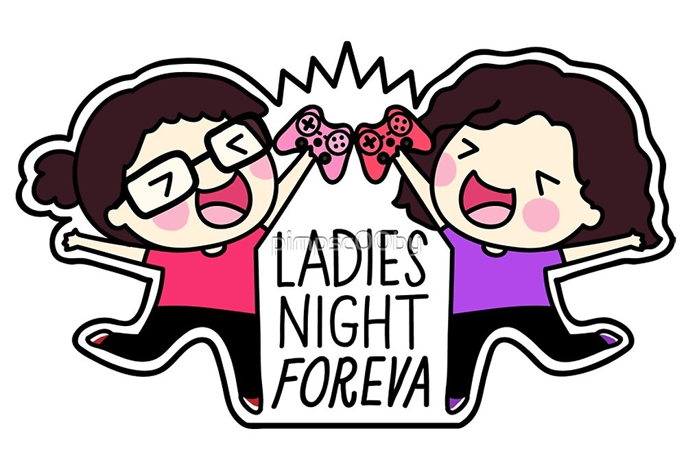 Ladies Night Foreva Logo Shirt by pimpsc00by