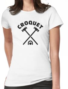 Croquet Womens Fitted T-Shirt