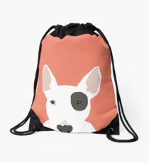 Bull Terrier pet gift dog breed cute puppy funny dogs spot terriers animal kids fur baby Drawstring Bag