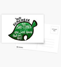 """Animal Crossing: New Leaf """"Bad Times"""" Quote Postcards"""