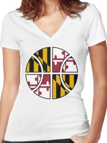 Maryland Basketball Women's Fitted V-Neck T-Shirt