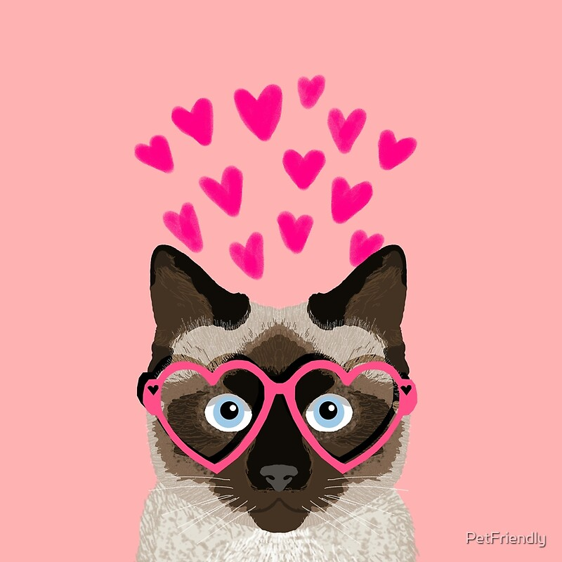 siamese cat valentines day love hearts gift for cat lady cute kitten funny cats - Cat Valentines Day