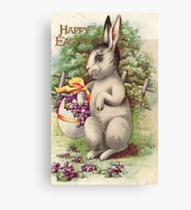 Happy Easter - Vintage Bunny Canvas Print