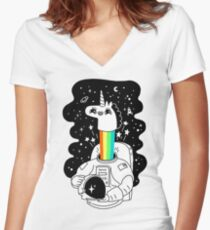 See You In Space! Women's Fitted V-Neck T-Shirt