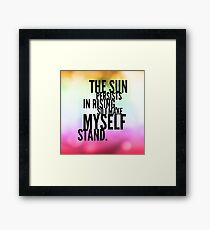 The Sun Persists Framed Print