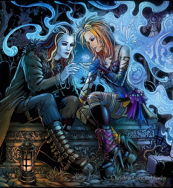 Romance on cemetery by Candra Gloomblade