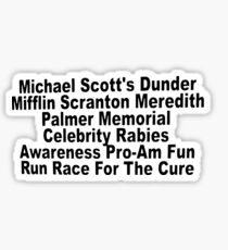The Office Charity Run Sticker
