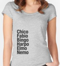 Finding Nemo Names List Women's Fitted Scoop T-Shirt