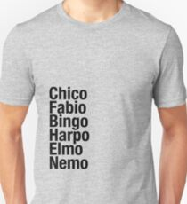 Finding Nemo Names List T-Shirt