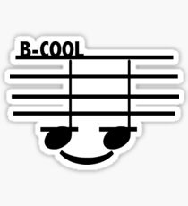 B-Cool (with text) Sticker