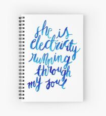 Electricity Running Through My Soul Spiral Notebook