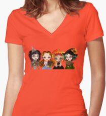 Oz Girls Women's Fitted V-Neck T-Shirt
