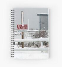 Misquamicut, Rhode Island Winter Spiral Notebook