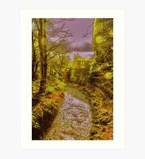 Rippling Brook in Edale Art Print