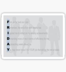 FRIDAY [things to reflect on]   Sticker