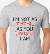 P!ATD/Music - I'm Not As Think As You Drunk I Am T-Shirt