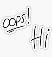 One Direction Oops Hi Tattoos Sticker