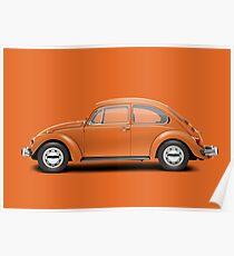 1974 Volkswagen Beetle - Bright Orange Poster