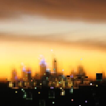 City in evening dress - City sunset, Perth by goanna
