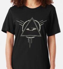 Allsehendes Auge Slim Fit T-Shirt