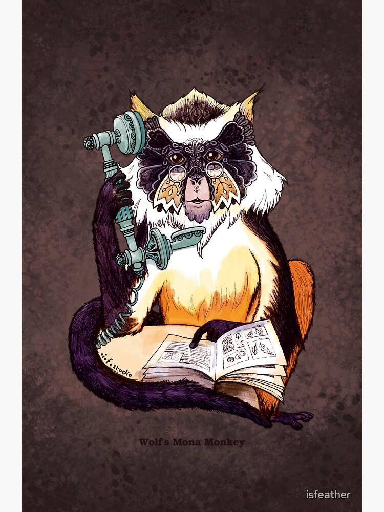 Wolf's Mona Monkey II by isfeather