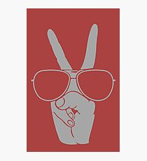 Cool Hand Peace funny nerd geek geeky Photographic Print