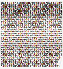 1st Gen Pokemon Badges Poster