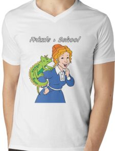 Frizzle > School Green Mens V-Neck T-Shirt