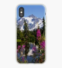 fireweed, picture lake, and mt shuksan, washington usa iPhone Case