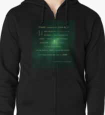 Gatsby believed in the green light Zipped Hoodie