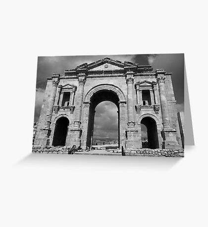 Hadrian's Arch Greeting Card