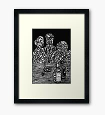 Grotesque Rendering Framed Print
